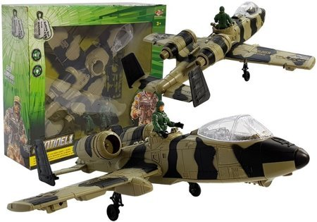 Military Aircraft with Batteries. Lights and Sound 49 cm