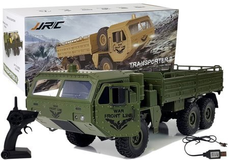 Military Remote-Controlled Car 47 cm All-Terrain Transporter 6 Wheels R/C