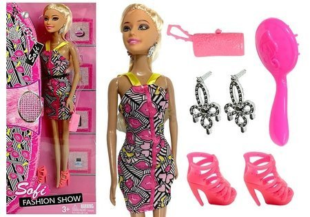 Model Doll Sofi with Accessories Handbag Brush