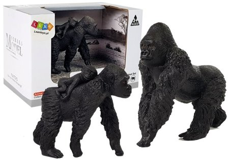 Set of Figures Gorillas Animals