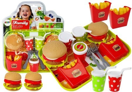 Set of Hamburger Fries with Tray