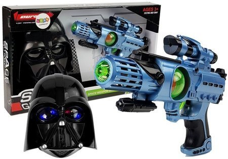 Set of Laser Gun Cosmos Warrior Mask