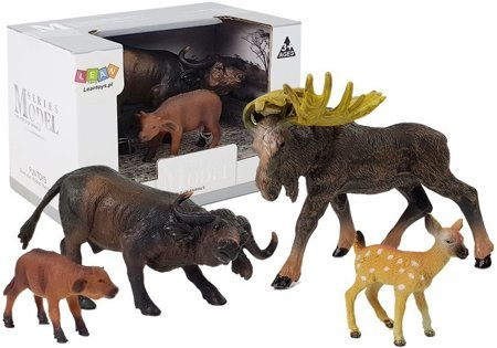 Set of figures Animals Moose Buffalo