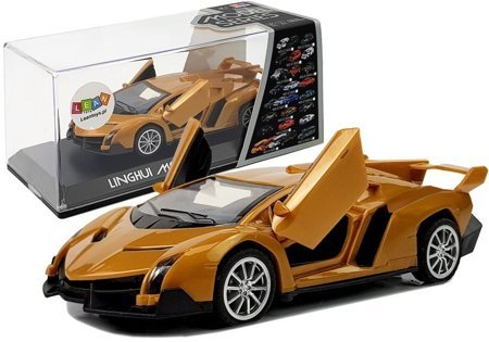 Sports Car with Tension and Sound Gold