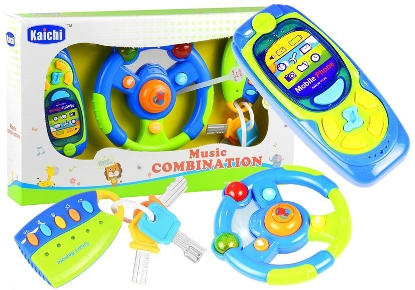 Baby Car Set Keys Steering Wheel Mobile Phone Toys Toys Of