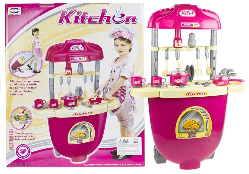 Big Realistic Roleplay Toy Kitchen Set In A Suitcase Lots Of
