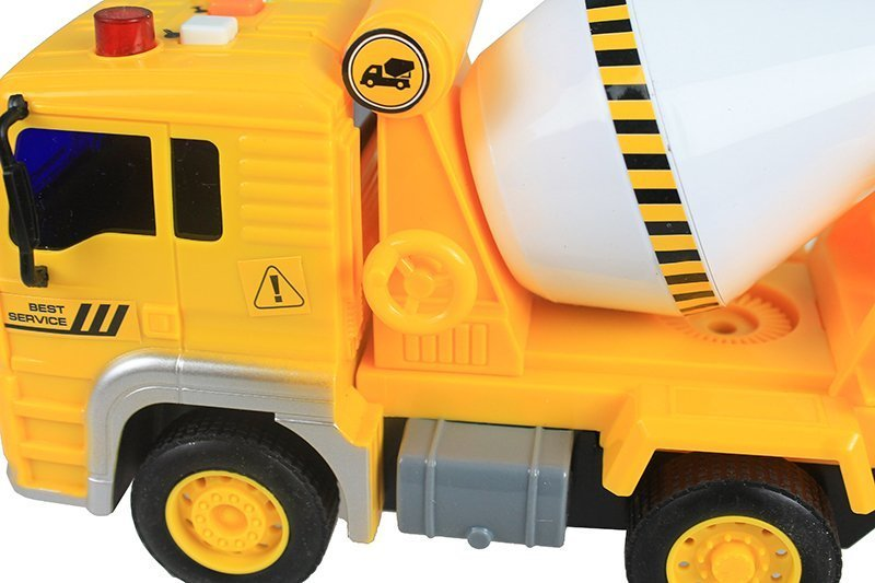 Concrete Mixer Truck Toy - with Sounds & Movable Elements