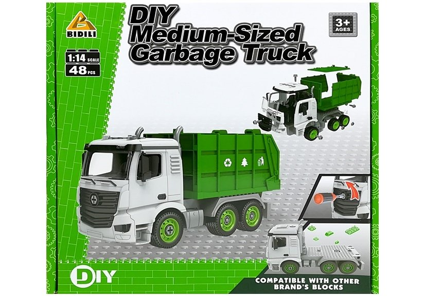 Diy Car 1 14 Garbage Truck With Screwdriver Toys Building Blocks Toys Cars