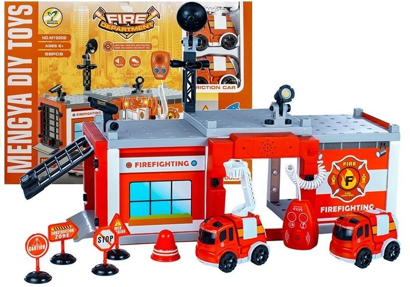 Fire Engine To Fold Car Set 59 Elements Toys Vehicles Sets