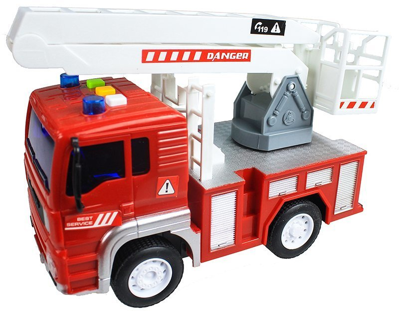 Fire Truck Toy Car - with Sounds & Movable Elements | Toys