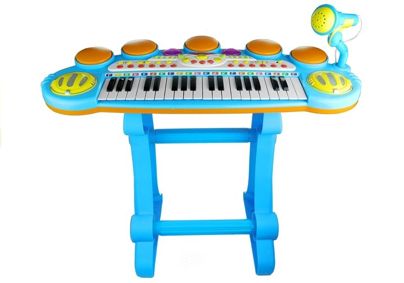 Kids Childrens 37 Key Electronic Keyboard Piano Mic Multi