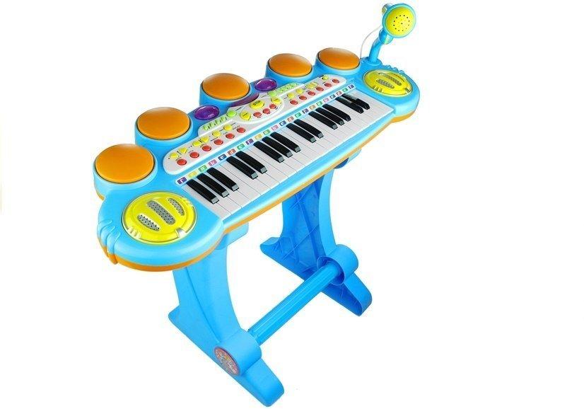 Kids Childrens 37 Key Electronic Keyboard Piano Mic Multi