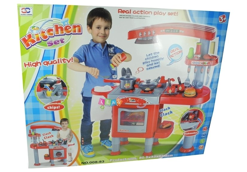 Kids Childrens Kitchen Set With Accessories Toys Household
