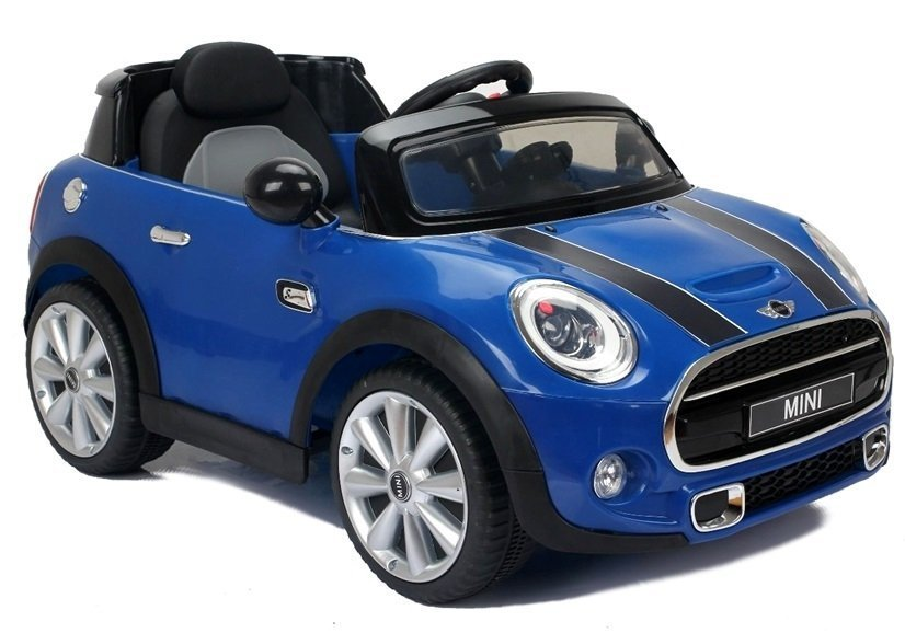 kids electric ride on car licensed blue mini cooper 2 x 45w remote control electric ride on. Black Bedroom Furniture Sets. Home Design Ideas