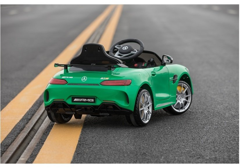 Mercedes Sls Amg Gt R Green Painting Electric Ride On