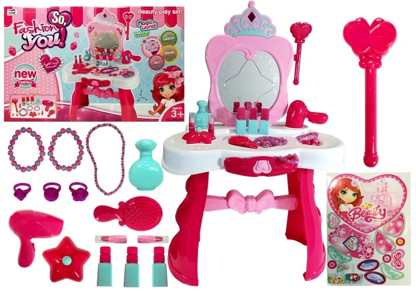 Beauty Set With Mirror And Magic Wand