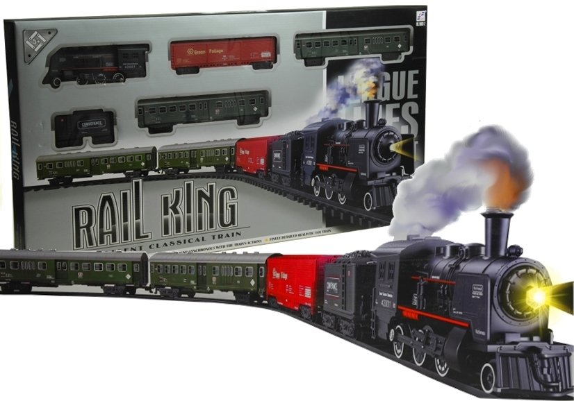 Rail King Train Set Smoke Realistic Toy Locomotive | Toys ...