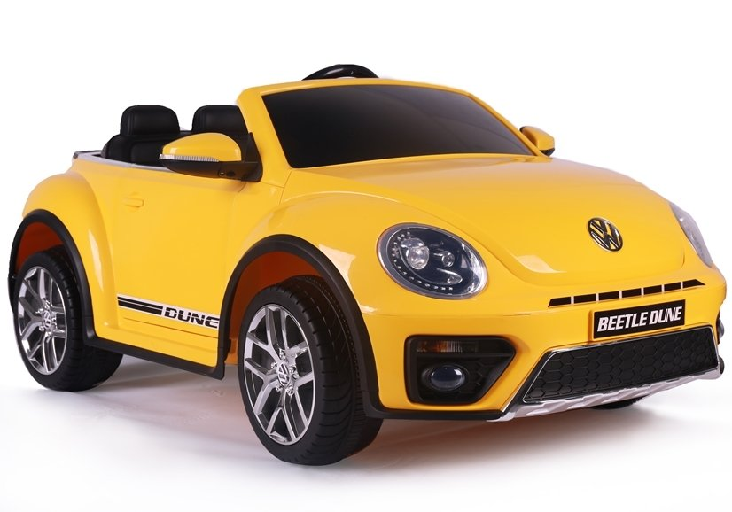 volkswagen beetle dune yellow electric ride  car electric ride  vehicles cars