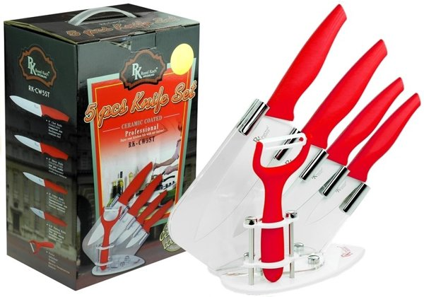 5 Knives Kitchen Set + Stand 5 Elements