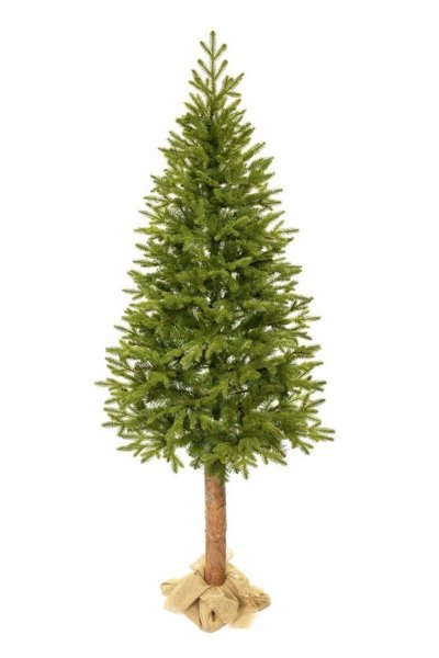 Artificial Christmas Tree On Trunk Spruce PE 220 cm