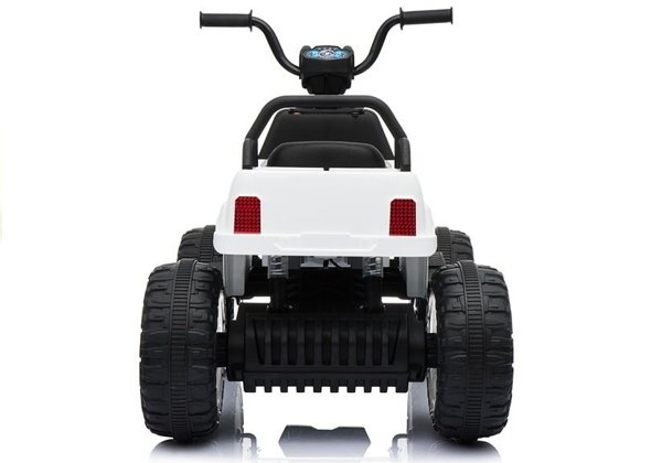 BDM0911 White - Electric Ride On Quad