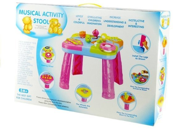 Baby Toddler Learning Centre Stool Table Sounds Lights Activity Musical Toy
