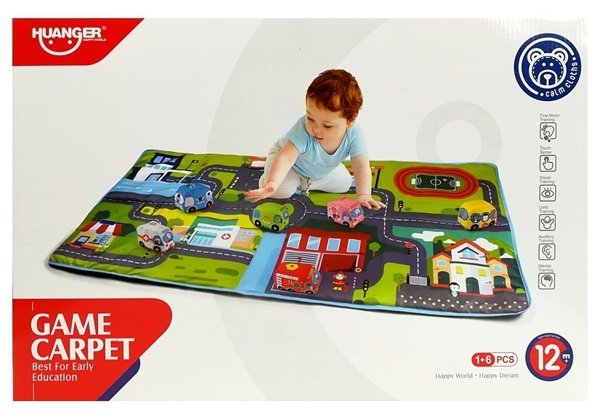 Educational Mat Soft City Map with Cars