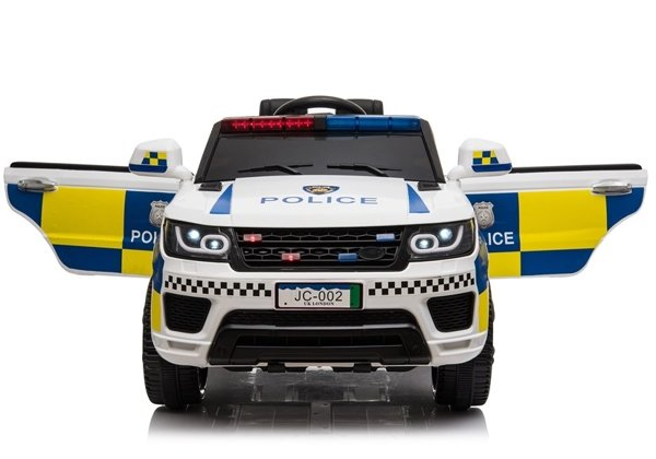 Electric Ride-On Car Police JC002 White