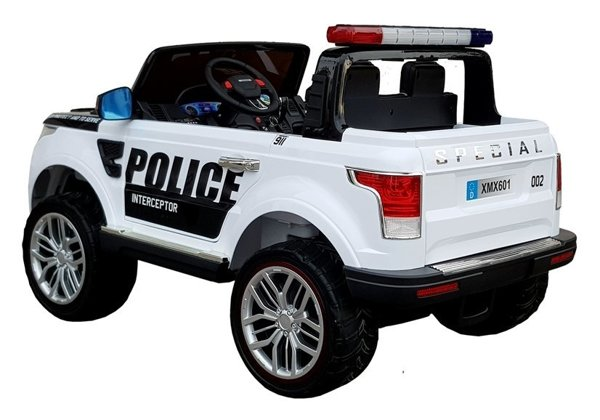 Electric Ride-On Car Police XMX601 White