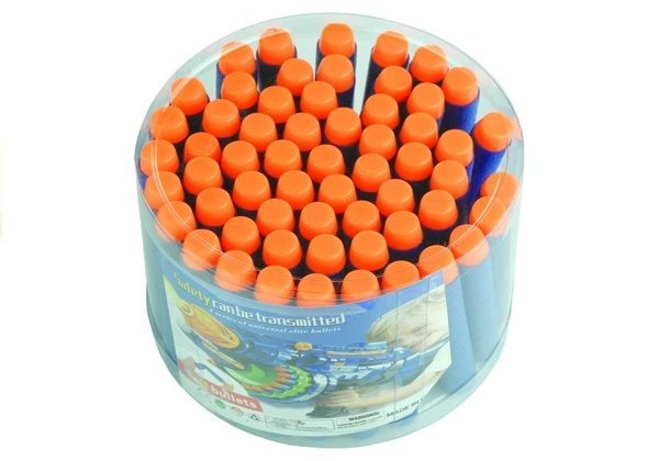 Foam Bullets for NERF guns 59 pcs Blue
