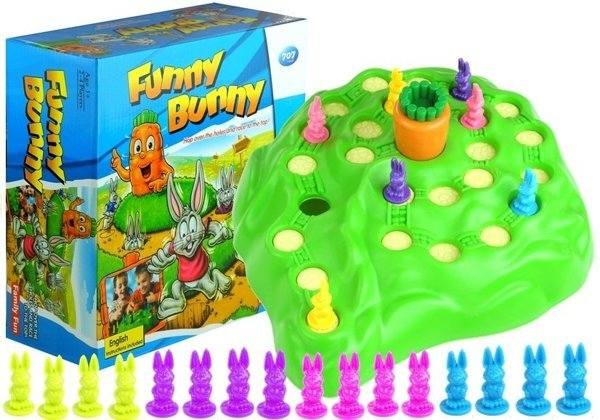 Funny Bunny Family Game - 3D, 4 players rabbit race game