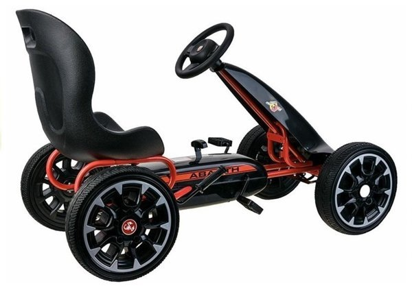 GO-CART ABARTH Black- Wheels EVA