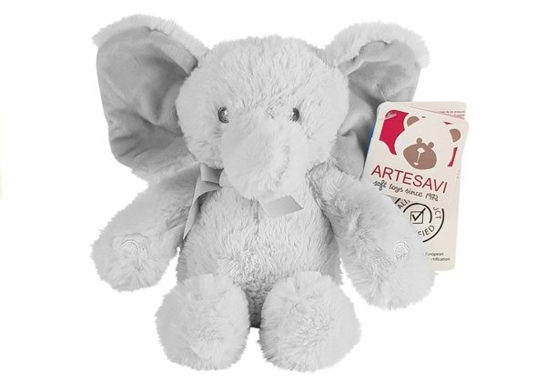 Grey Elephant Plush Toy with Bow 711/1G
