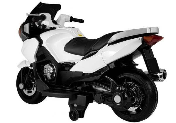 HZB118 White - Electric Ride On Motorcycle