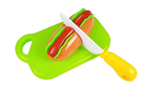 Hot-Dog Set for Cutting Indredients in a Basket