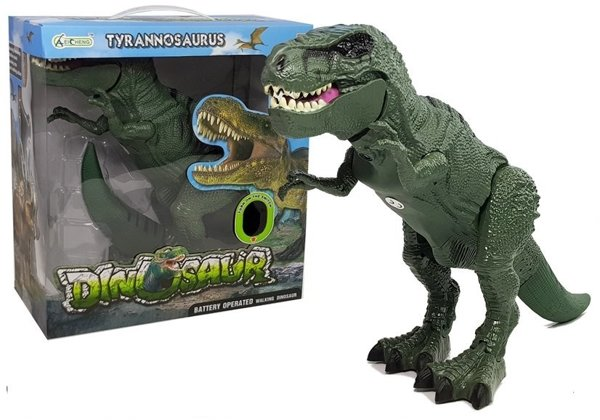 Interactive Dinosaur Battery Operated Tyrannosaurus Green