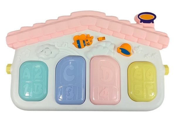Interactive Mat for Baby with Piano Light Pink Color