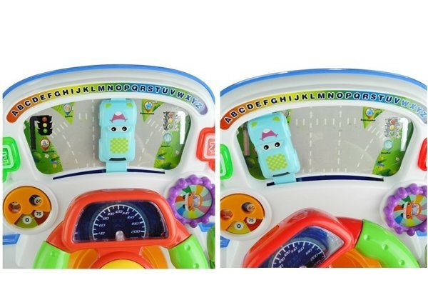 Interactive Steering Wheel Educational Sounds Lights