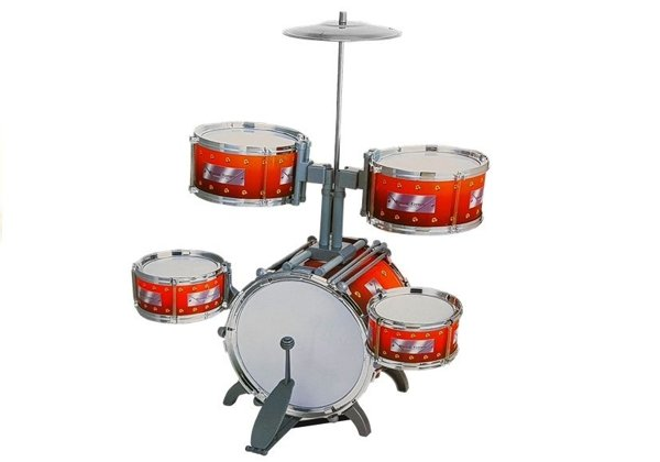 Kids Childrens Jazz Drum Set 5 Drums Stool Instrument Music Toy