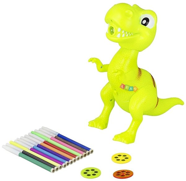 Kids Childrens Toy Overhead Projector Dinosaur 18P
