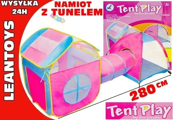 Kids Pop Up Play Tent Convenient 2 Tents With Tunnel Baby Indoor Outdoor Fun