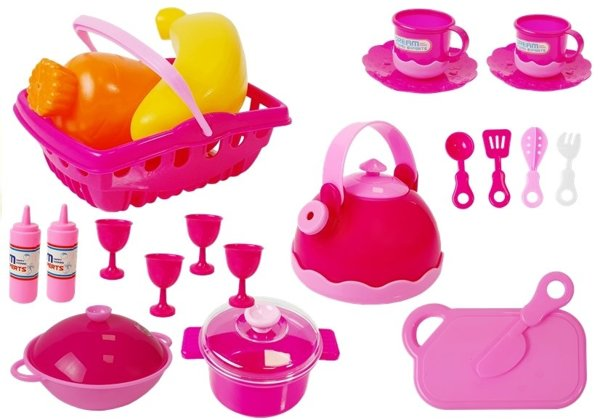 Kitchen Set 31 Elements Bag Dishes Plates Kids