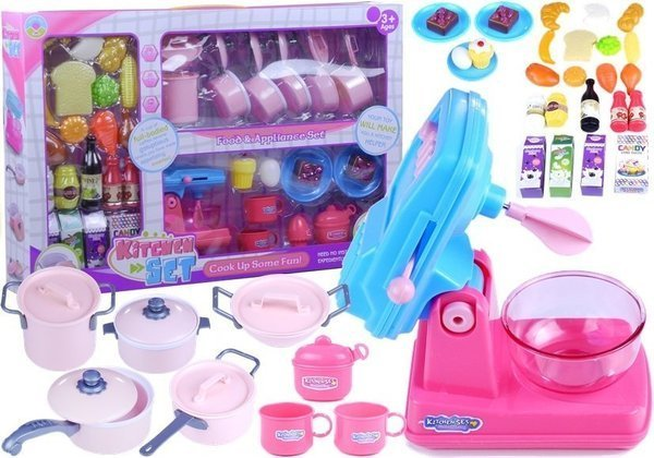 Kitchen Set for a little Chef Pots Food and Accesories