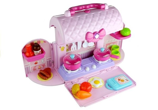 Kitchen in Suitcase Rings Accessories Pink