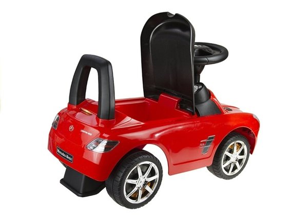 Mercedes Benz Red - Kids Push Along Ride On Car
