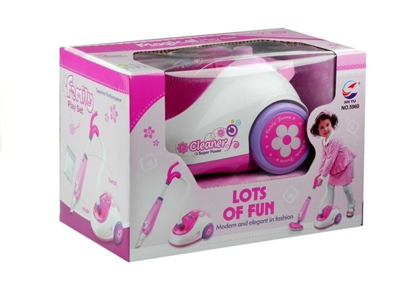 Pink Realistic Vacuum Cleaner 2 Nozzles