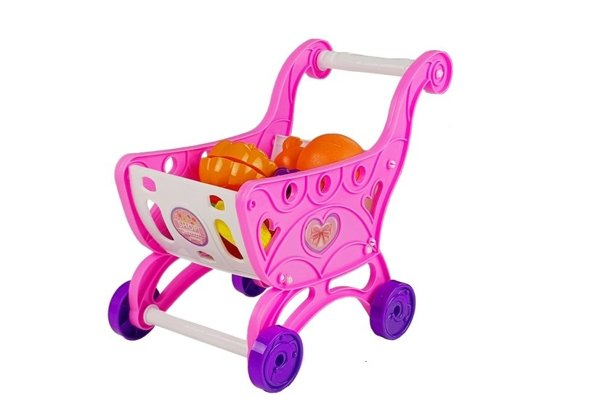 Pink Trolley with Cash Register + Accesories