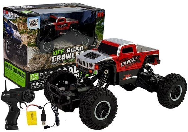 R/C Car Monster Truck 1:20 2.4 GHz Red