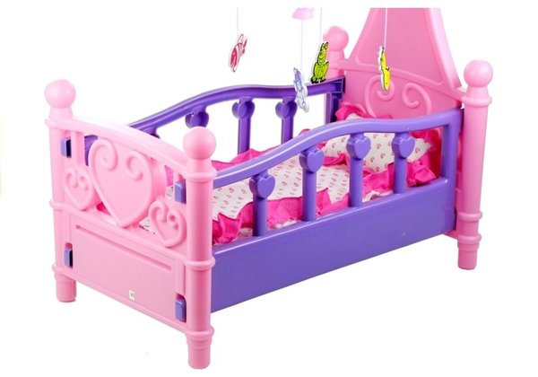 ROLE PLAY COT CRIB WITH ACCESSORIES TOY CRADLE GIFT