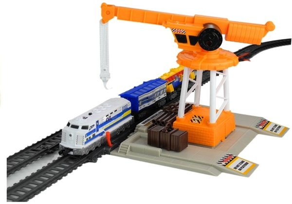 Set Of Trucks Train Industrial Factory 670 cm 61 Elements